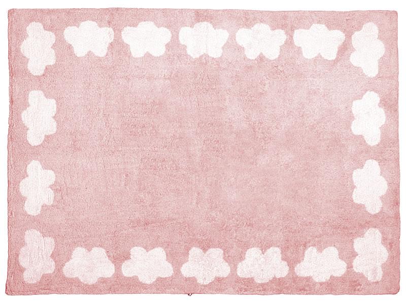 Alfombra nubes lagarterana - Alfombra infantil rosa ...