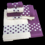 DOT TOWELS PURPLE