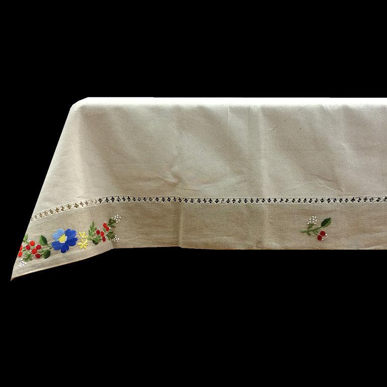Mantel tela saco bordado a mano for Manteles de tela