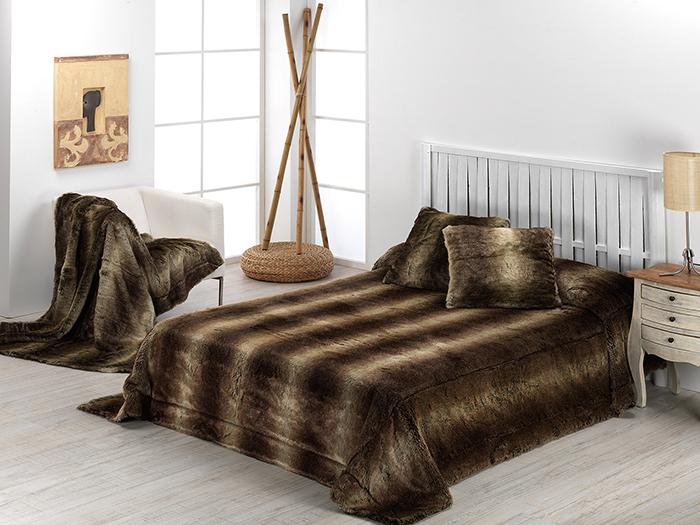 Manta piel bison para sofa o cama - Mantas de piel ...