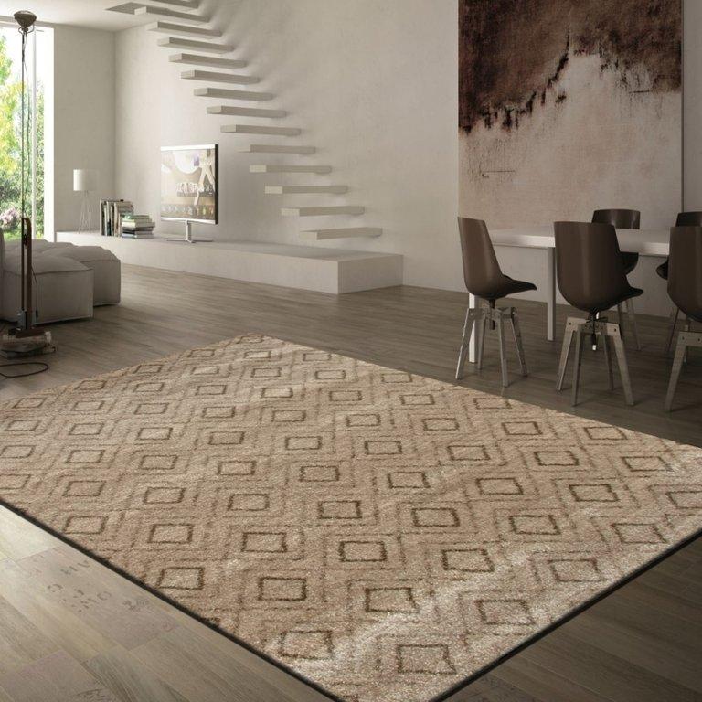 Alfombra laga 01 rombos moderna - Decoracion alfombras salon ...