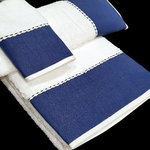 TOWELS WITH NAVY BLUE TOWELS