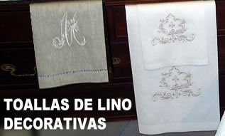 TOALLAS LINO DECORATIVAS