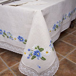 EMBROIDERY TABLECLOTH WITH LACE