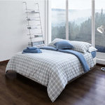CHECK FLANNEL SHEET SET