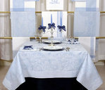 LINEN DAMASK TABLECLOTHS ARABESCO