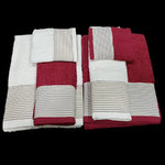 TOWELS GARNET/WHITE
