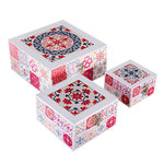 RED CERAMIC TRIBAL BOXES