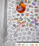 MONSTERS TABLECLOTH COLOR