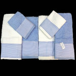 TOWELS BLUE/WHITE