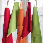 FABRIC APRON SMOOTH COLOR