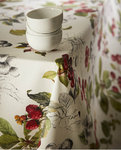 CHERRIES STAIN REPELLENT TABLECLOTH