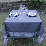 LINEN DAMASK TABLECLOTHS ACANTHUS