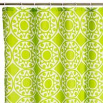 MANDALA GREEN BATH/SHOWER CURTAIN