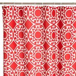 MANDALA RED BATH/SHOWER CURTAIN