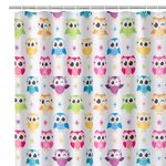 OWL BATH/SHOWER CURTAIN
