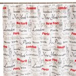 CITIES BATH/SHOWER CURTAIN