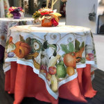 PUMPKINS LINEN TABLECLOTH