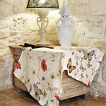 BUTTERFLIES LINEN TABLECLOTH