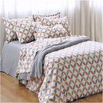GEO FLANNEL DUVET COVER