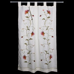 EMBROIDERED FLOWERS CURTAINS I