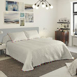 TRIMMINGS BEDSPREAD WHITE